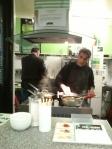 Ash cooking at Egg-e-licious