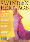 Front cover of Swindon Heritage magazine featuring Diana Dors