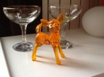Babycham glasses and fawn.