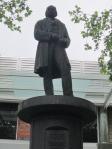 statue Isambard Kingdom Brunel in Swindon. Wilts.