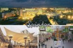 Swindon - The Parade, Outlet village and night shot of the town.