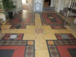 Lovely tiled floor in the church
