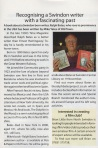 Article in Swindon link about Ralph Bates book
