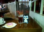 Swindon bear & Penny penguin sample the offerings in the Moonrakers.