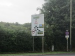 White Hart roundabout sign