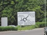 Supermarine roundabout sign