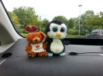 Swindon bear and Penny Penguin go on a road trip.