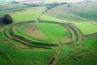 Aerial view of Barbury Castle