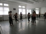 Dance class in progress